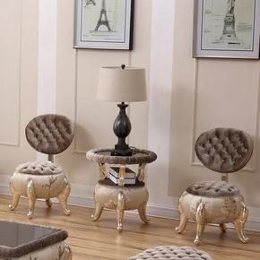 欧式室内阳台小桌椅休闲客厅桌子沙发组合时尚卧室椅子茶几三件套