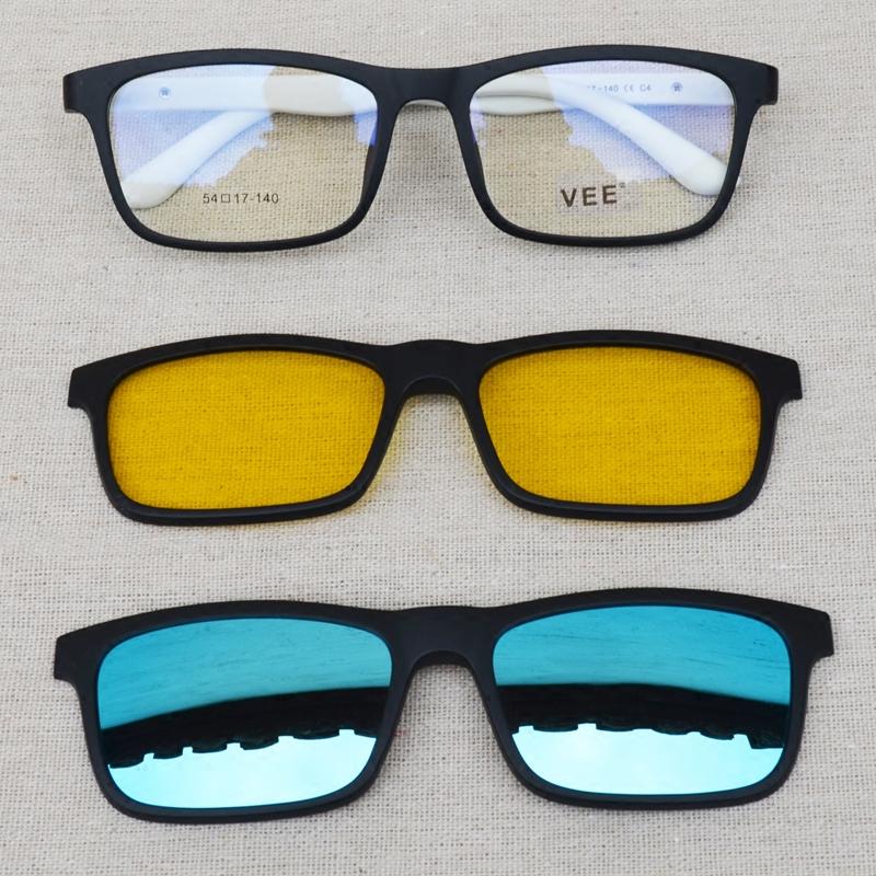 大光明眼镜 TR90黑框日夜两用眼镜架男女全框墨镜近视镜夜市镜