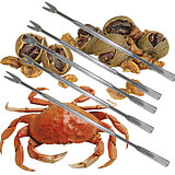 Crab eight pieces of stainless steel walnut needles, seafood needles, cleaning needles, needles, crab tools, crab needles, fruit forks, crab needles