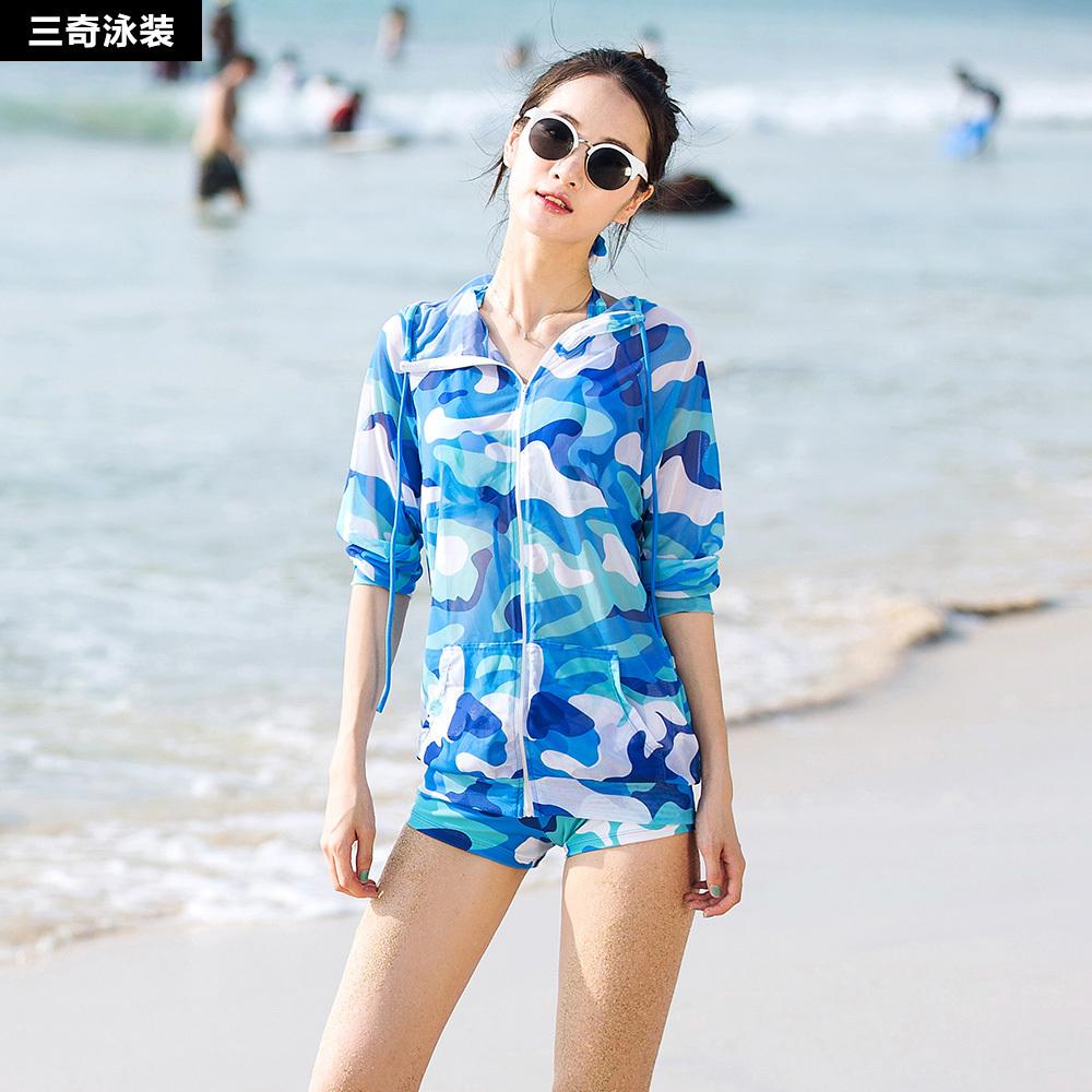 韩版沙滩防晒服