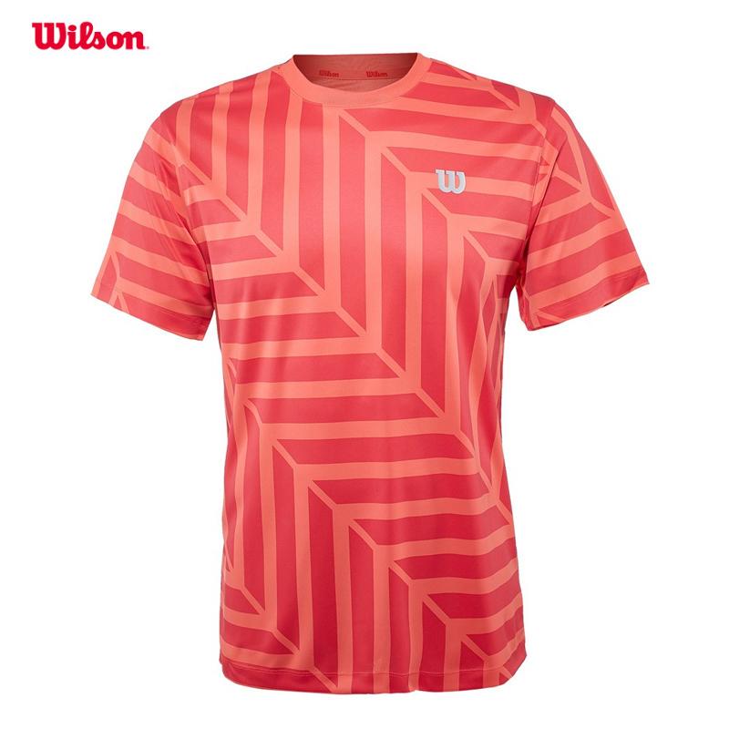 Wilson威尔胜网球服男网球T恤新款SULABYRINTH运动短袖WRA745701