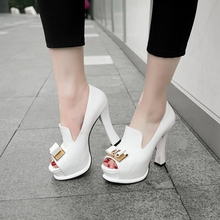 Fish-billed single-shoe high heel high-heeled sandals in spring and summer 2019 new Korean version fashionable small size women's shoes with waterproof platform