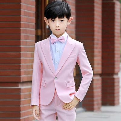 春秋款儿童西服套装花童礼服男宝宝西装外套男童休闲小西装韩版