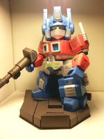 Transformers Pearl Edition-G1 SD Optimus Prime 3D Paper Mold/Paper Model
