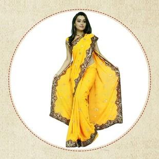 出租黄色纱丽服装 礼服传统服饰 尼泊尔服 出租演出服 推荐