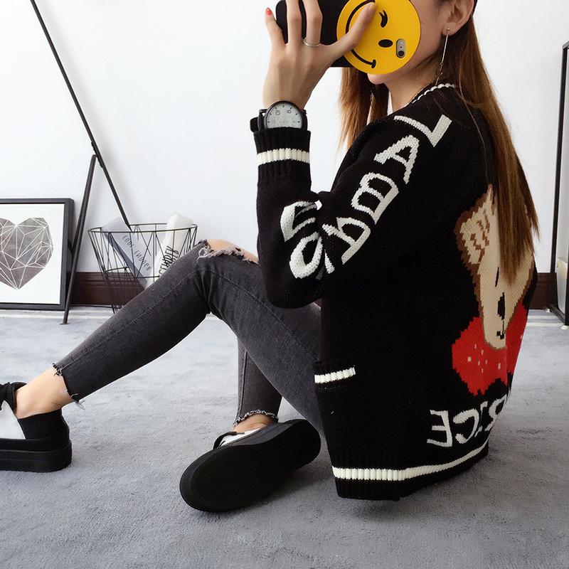 韩版卡通毛衣
