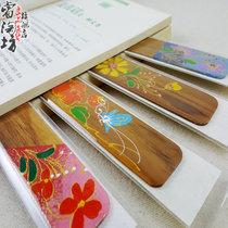 泰国彩绘木质创意礼品书签电子词典电纸书文化用品活动礼品特价