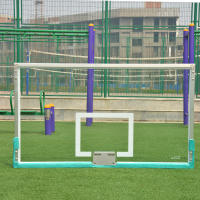 Outdoor standard aluminum edging tempered glass backboard outdoor adult basketball backboard