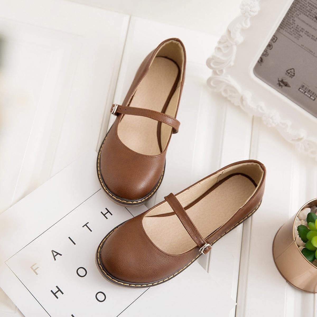 圆头女童单鞋