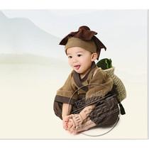 儿童摄影服装新款 国学古装 宝宝拍照艺术表演演出造型锄禾衣服