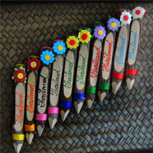 诗玛哈泰国工艺品泰国手工艺术原木铅笔儿童礼品旅游纪念品单支价