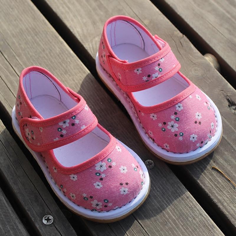 儿童手工布鞋夏