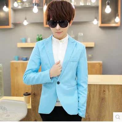 单件西服男潮春季新款男士上衣小西装韩版青年修身外套青少年休闲