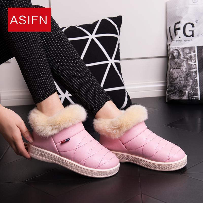 纯色防水雪地靴