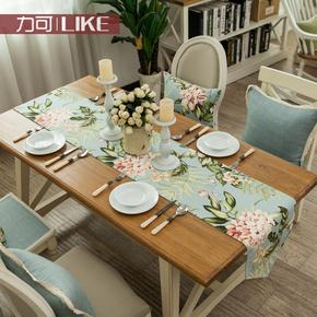 原创!原创双层 桌旗/桌条床旗欧式餐桌布艺家纺田园#30EMMA花朵