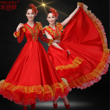 New National Dance Performance Dress Adult Chorus Stage Dress Opening Dance Dress Show Dress Female Long Dress