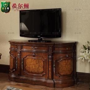 欧式电视柜 实木电视柜 美式玄关柜 客厅装饰柜 弧形储物柜 地柜