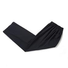 中国风夏季唐装裤子中老年男装宽松休闲裤大码爸爸装太极裤