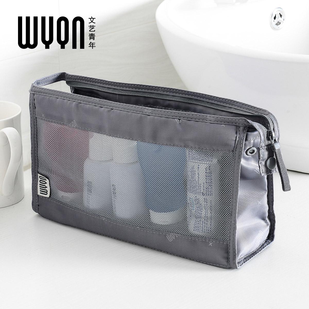 文艺青年 洗漱用品包 男士女旅行洗漱袋旅游用品收纳袋化妆包图片
