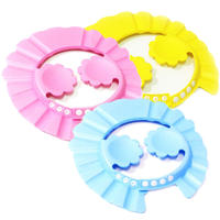Adjustable ear protection child waterproof baby shampoo cap shampoo cap children shower cap baby shower hat wholesale