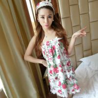 Summer ladies cotton bath towel pajamas sexy wrapped chest robe suit sweet cute strawberry tube top nightdress bathrobe