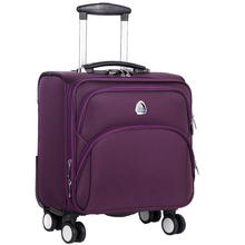Air hostess towing box 16 inch pull rod box, man and woman Oxford cloth universal wheel suitcase, luggage compartment boarding bag, small and fresh.