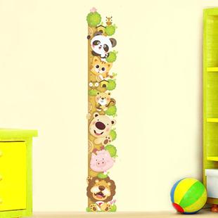 包邮宝宝成长身高树身高贴身高尺可移除量身高幼儿园儿童身高墙贴