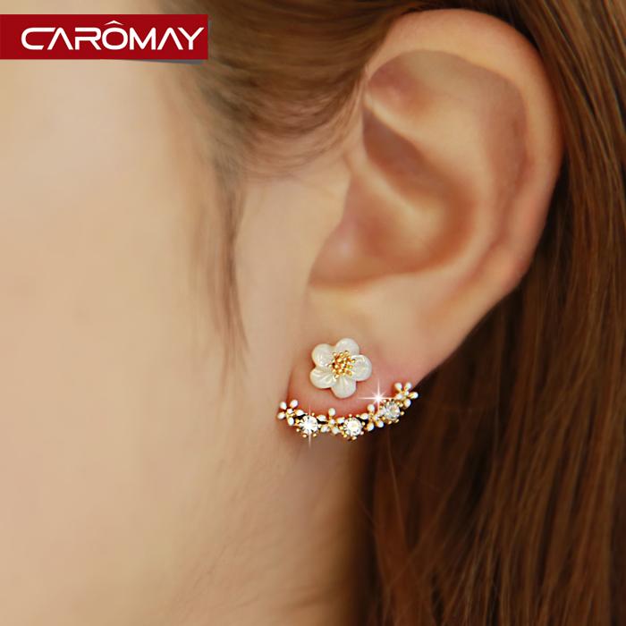 水晶韩版耳环