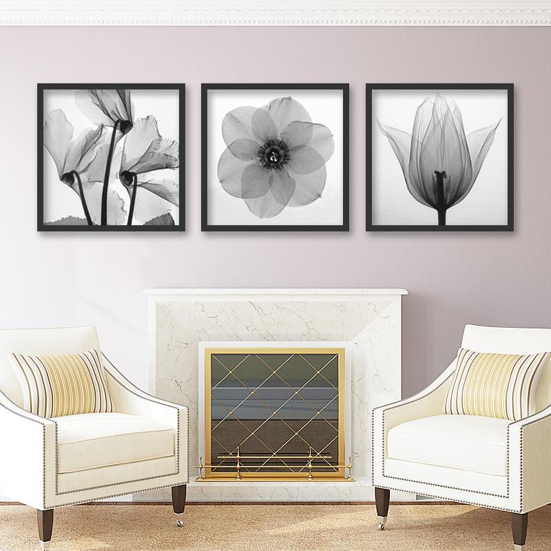 客厅素色沙发墙