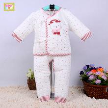 2014秋新款 婴幼儿童宝宝开裆绑带斜襟内衣套装 新生儿保暖棉衣服