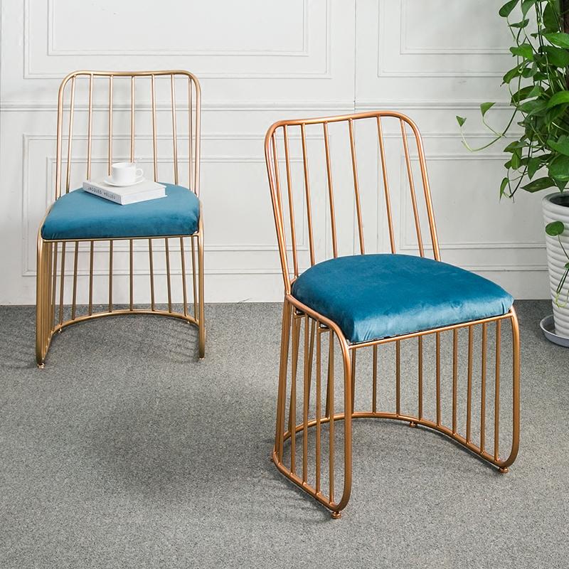文艺休闲单人沙发椅创意餐椅铁艺沙发简约现代小户型设计师卡座