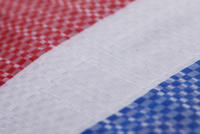 New material polyethylene thick color strip cloth rain tarpaulin waterproof cloth three color red white blue plastic sunscreen cloth