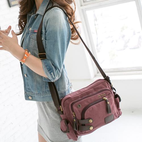 木独猪潮流女包新款帆布包韩版单肩包女斜挎包小包包休闲女式包