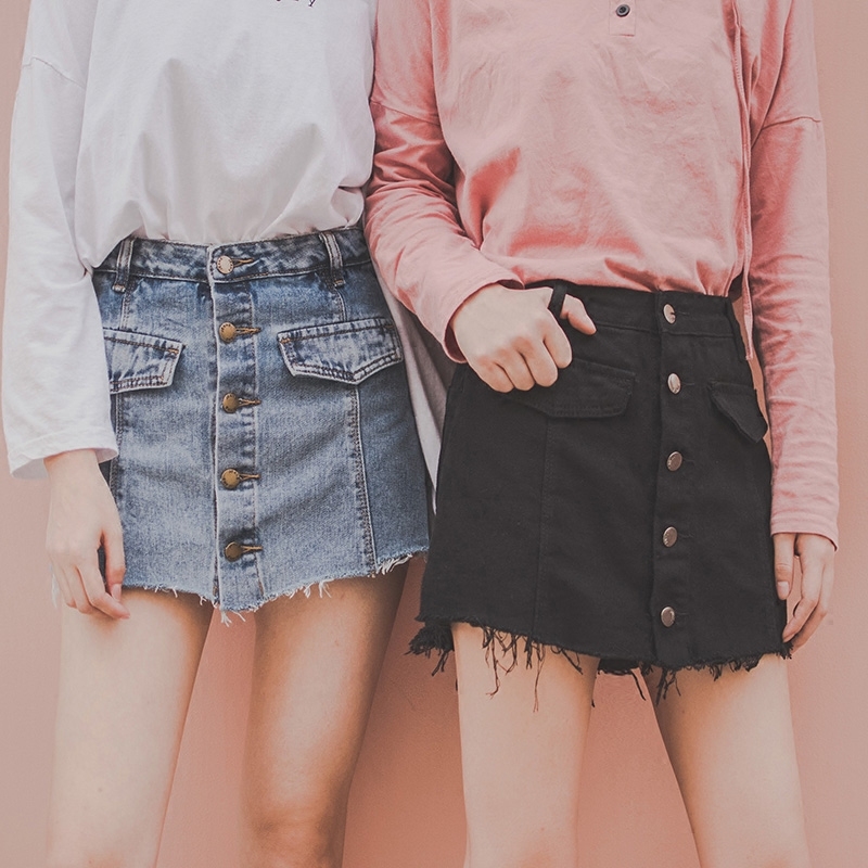 假两件牛仔裤裙