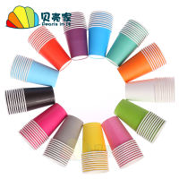 Hand-thickened colored white paper cups Kindergarten early education creative art young children diy production creative materials
