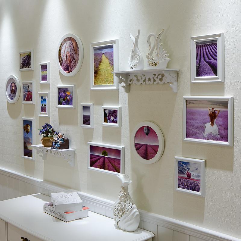 照片墙 相框墙创意组合 欧式相片墙 客厅卧室挂墙画框装饰墙 16框1元优惠券