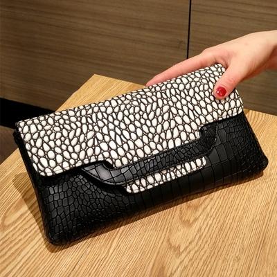 正品欧美新款鳄鱼纹手拿包钱包女士长款大钞夹皮夹复古钱夹大容量