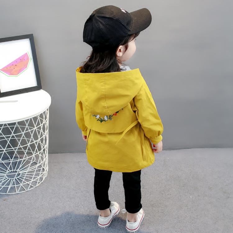 2018新款女童外套风衣春季韩版童装女宝宝长袖洋气秋冬装1-3一4岁