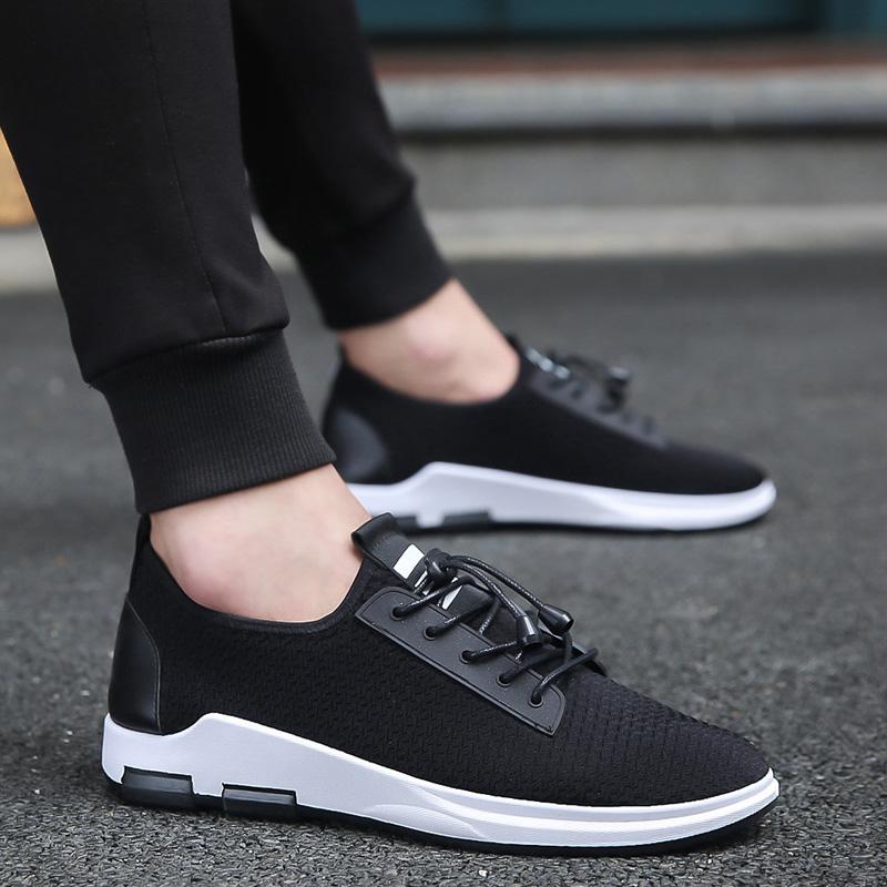 潮流网布板鞋