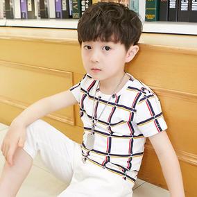童装男童套装夏装2018新款儿童中大童夏季男孩短袖韩版两件套潮装