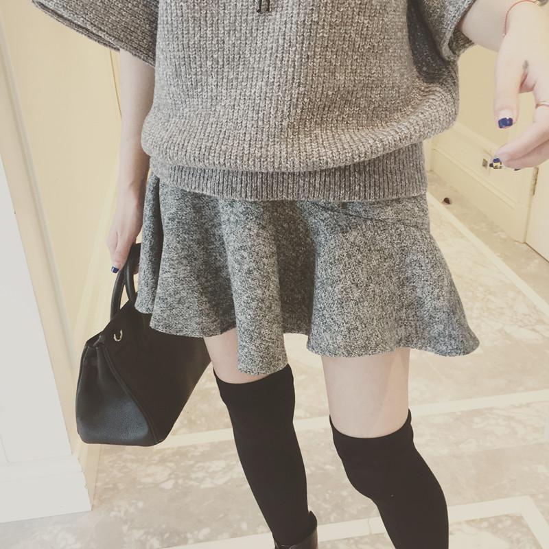 7003#半身裙【一件代发】2016秋冬新款潮女装学生韩版时尚冬季