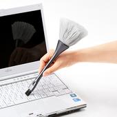 日本SANWA CBR14 清洁刷子键盘刷屏幕刷电脑刷双头除静电含导电丝