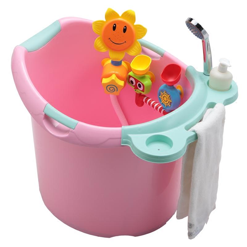 儿童浴桶大号婴儿浴盆宝宝洗澡盆加厚可坐洗澡桶沐浴桶新生儿用品