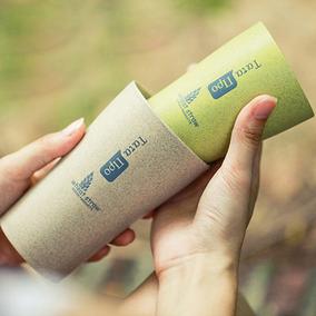 贝合小麦创意漱口杯情侣水杯 简约塑料牙刷杯子旅行刷牙杯洗漱杯