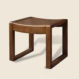 简约现代实木梳妆凳化妆凳儿童学习小矮凳时尚坐凳子橡木茶几方凳