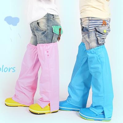 正品蓝蚂蚁儿童防水护脚裤腿套可配雨衣雨鞋雨伞套装