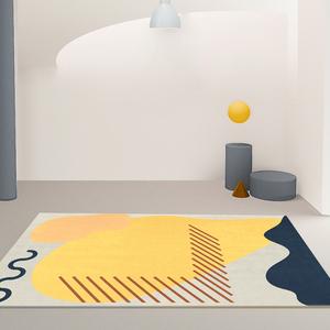 客厅地毯沙发茶几毯北欧ins风莫兰迪卧室少女满铺房间床边地垫