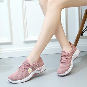 旋悟飞织运动女鞋夏季新款韩版休闲小白鞋女单鞋网面透气跑步鞋