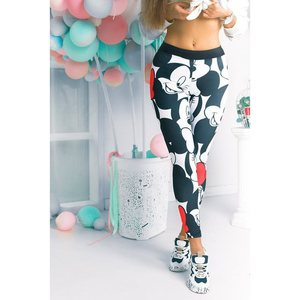 Digitally printed Mickey Mouse yoga leggings to lift hips