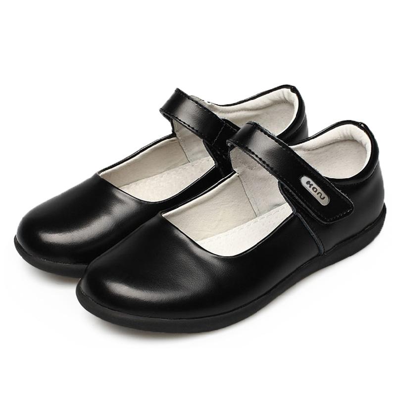 卡努正品春秋新款女童鞋儿童黑皮鞋真皮牛皮单鞋学生鞋公主鞋演出